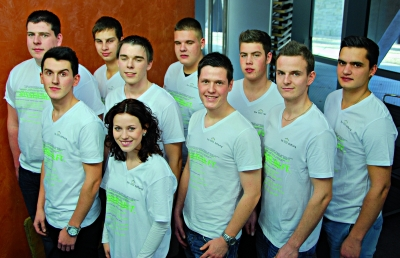 Das Nationalteam der Stuckateure 2012/13. Foto: Sto-Stiftung