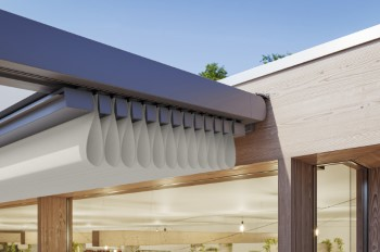 Gold in der Kategorie Outdoor: Die markilux pergola-stretch. Foto: markilux GmbH & Co. KG